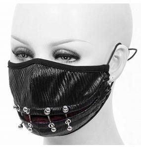 Masque 'Piercings' Noir et Rouge