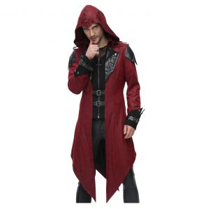 Red 'Assassins Creed' Hooded Jacket