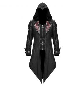 Black 'Assassins Creed' Females Hooded Jacket