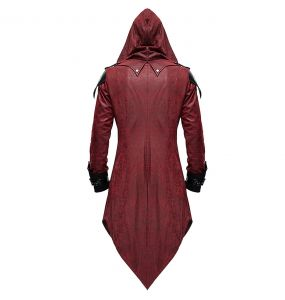 Red 'Assassins Creed' Females Hooded Jacket
