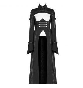 Black 'Gothic Militia' Coat