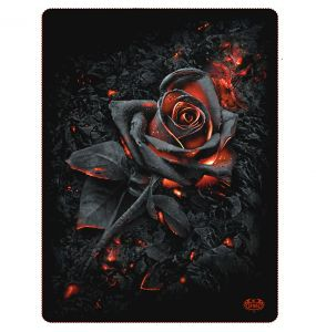 Fleece Blanket 'Burnt Rose' with Double Sided Print