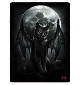 Fleece Blanket 'Vamp Cat' with Double Sided Print