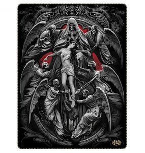 Fleece Blanket 'Reaper's Door' with Double Sided Print