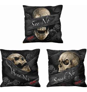 Set of 3 square 'See No Evil' Cushions