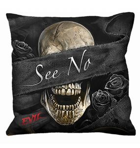 Set of 3 square 'See No Evil' Cushions