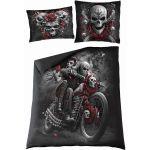 Double Duvet Cover 'Skulls N' Roses' with Pillowcases