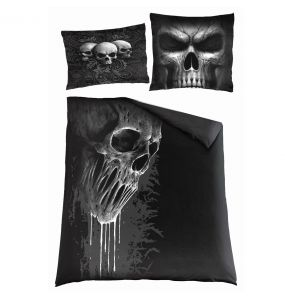 Double Duvet Cover 'Skull Scroll' with Pillowcases