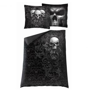 Single Duvet Cover 'Skull Scroll' with Pillowcases