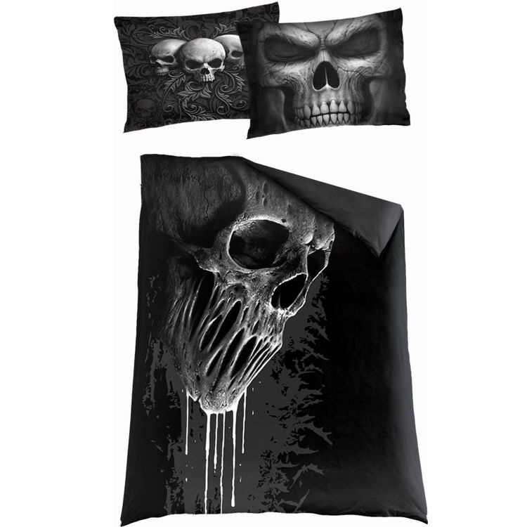 Single Duvet Cover 'Skull Scroll' with Pillowcases