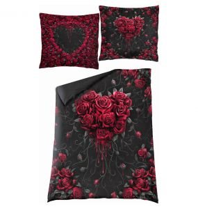 Single Duvet Cover 'Bleeding Heart' with Pillowcases