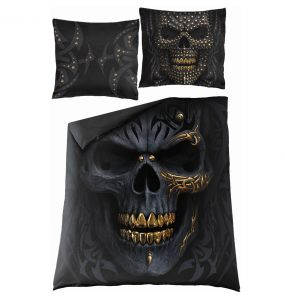 Double Duvet Cover 'Black Gold' with Pillowcases