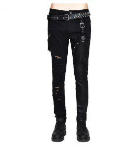 Pantalon 'Wasteland' en Jean Noir