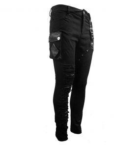 Black Denim 'Wasteland' Pants