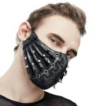 Black 'Silver Pinned' Face Mask