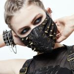 Black 'Copper Pinned' Face Mask
