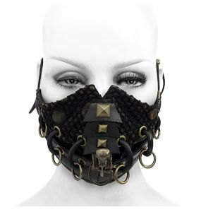 Black 'Copper Crow' Face Mask