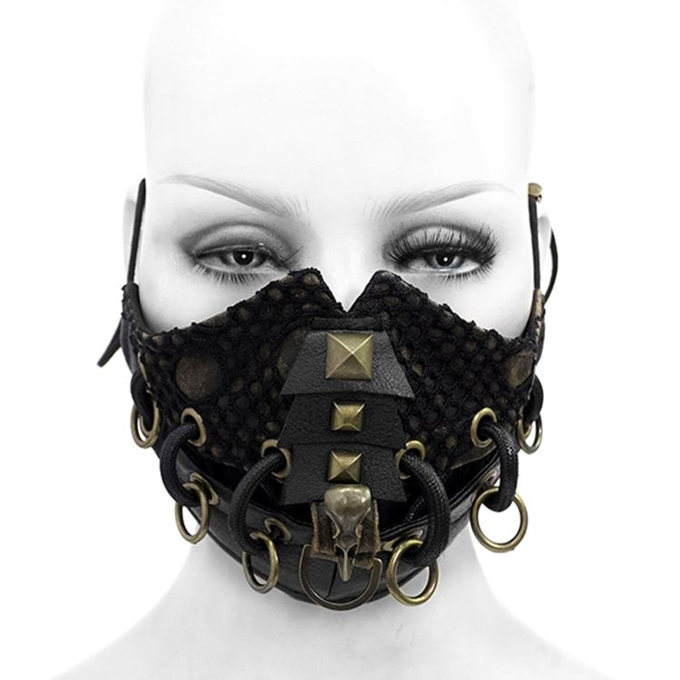 Black 'Copper Crow' Face Mask