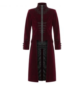 Manteau Gothique 'Lovecraft' Rouge
