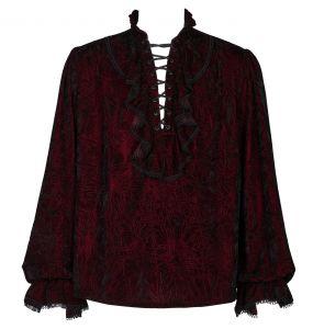 Burgundy 'Hamlet' Velvet Shirt
