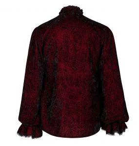 Red 'Hamlet' Velvet Shirt