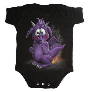 Body pour Bébé 'Dragon Relief' Noir