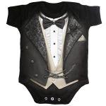 Black 'Tuxed' Baby Sleepsuit