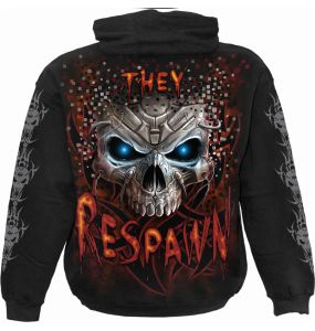 Black 'Respawn' Kids Hoody