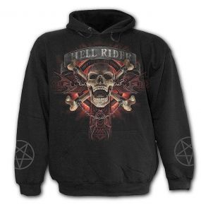 Black 'Hell Rider' Kids Hoody
