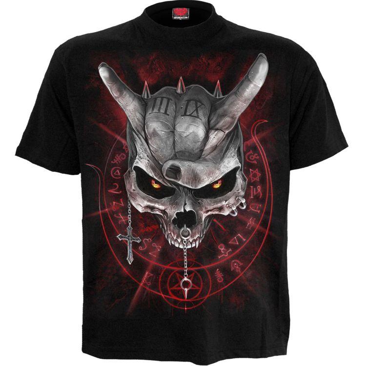 T-Shirt Manches Courtes pour Enfants 'Never Too Loud' Noir