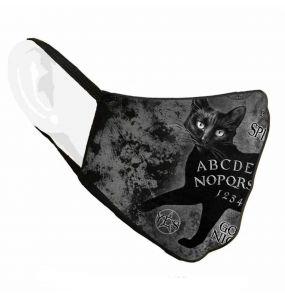 Black 'Ouija Sublima' Face Mask