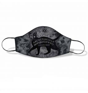 Black 'Ouija Sublima' Face Mask