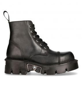 Bottines New Rock Newmili Reactor en Cuir Noir