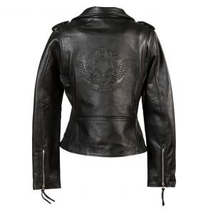 Black Leather 'Brando' Females Jacket