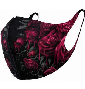 Black 'Blood Rose' Face Mask
