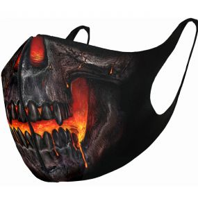 Black 'Skull Lava' Face Mask