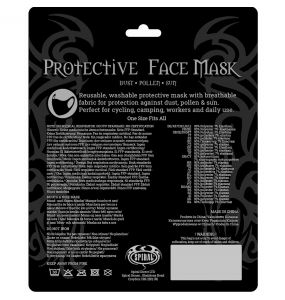 Black 'Skull Lava' Face Mask