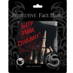 Black 'Keep Your Distance' Face Mask