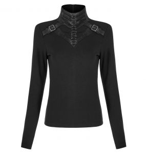Black 'Murderdoll' Long Sleeves Top