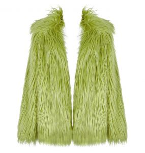 Green 'Cthulhu' Faux Fur Jacket
