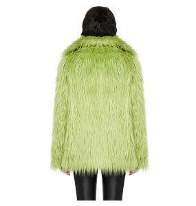 Green 'Cthulhu' Faux Fur Jacket