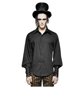 Black Striped 'Edward' Shirt