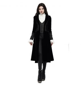 Black 'The Vampire Diaries' Velvet Coat