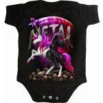 Black 'Metallicorn' Baby Sleepsuit