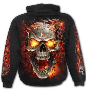 Black 'Skull Blast' Kids Hoody