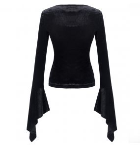 Black and Red Long Sleeves 'Aramantha' Top