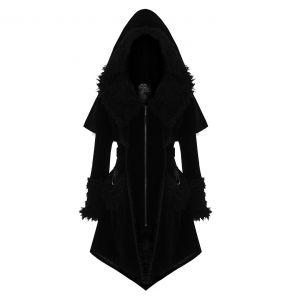 Manteau Gothic Lolita 'Witchnight' Noir à Capuche