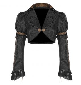 Black and Brown 'Versailles' Steampunk Bolero Jacket