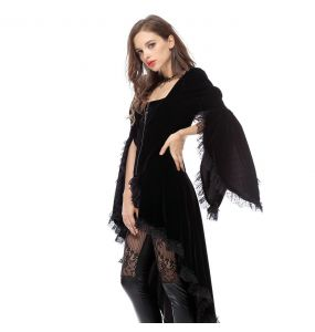 Black 'Amiria' Asymmetrical Jacket