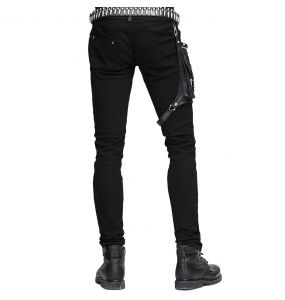Black 'Dark Punk' Male's Pants